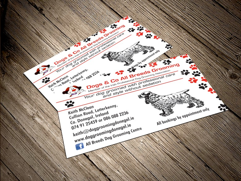 pet grooming business card - Dog Grooming Business Cards