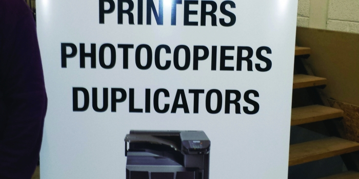Print Supplies Pop Up Banner